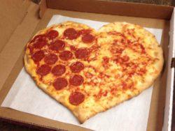 Heart Shaped Valentine's Day Pizza | Original Bruni's Pizza